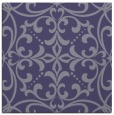 rug #949457 | square blue-violet damask rug