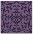 rug #949465 | square blue-violet damask rug