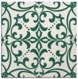 rug #949501 | square blue-green damask rug