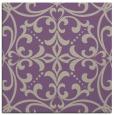 rug #949549 | square purple damask rug