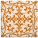 rug #949569 | square orange damask rug