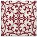 rug #949585 | square pink damask rug