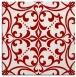 rug #949613 | square red damask rug