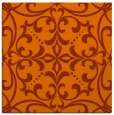 rug #949629 | square red-orange damask rug