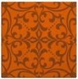 rug #949637   square red-orange damask rug