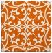 rug #949641   square red-orange damask rug