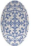 rug #949773 | oval blue damask rug