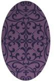 rug #949825   oval purple damask rug
