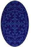 rug #949829   oval blue-violet damask rug