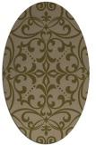 rug #949841   oval brown damask rug