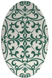 rug #949861 | oval green damask rug