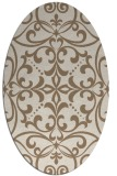 rug #949877   oval beige damask rug