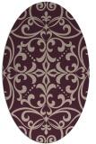 rug #949885   oval pink damask rug
