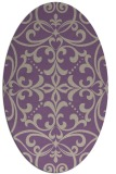 rug #949909 | oval beige damask rug
