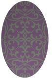 rug #949911 | oval traditional rug