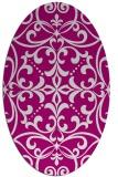 rug #949921 | oval damask rug