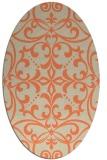 rug #949933   oval orange damask rug