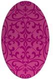 rug #949941   oval pink damask rug