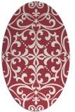 rug #949948 | oval damask rug