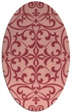 rug #949949 | oval pink rug