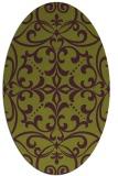 rug #949961   oval purple damask rug