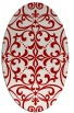 rug #949973 | oval red damask rug