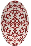rug #949981 | oval red damask rug