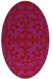 rug #949985 | oval red damask rug