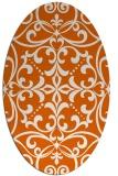 rug #950001   oval red-orange damask rug