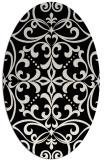 rug #950005 | oval white damask rug