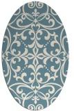 rug #950021 | oval white damask rug