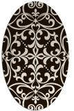 rug #950037 | oval damask rug