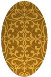 rug #950045   oval yellow damask rug