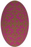rug #950061 | oval light-green damask rug