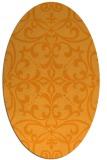 rug #950077 | oval light-orange damask rug