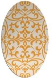 rug #950081 | oval light-orange damask rug