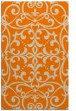 rug #950085 |  orange damask rug