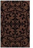 rug #950101 |  brown damask rug