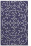 rug #950177    blue-violet damask rug
