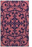 rug #950181 |  blue-violet damask rug