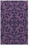 rug #950185 |  purple damask rug