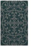 rug #950217 |  blue-green damask rug