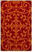 rug #950285 |  red-orange damask rug