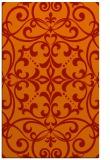 rug #950337    orange damask rug