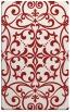 rug #950341 |  red damask rug