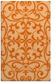 rug #950353 |  red-orange damask rug