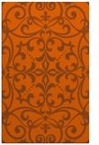 rug #950357 |  red-orange damask rug