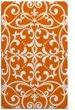 rug #950361    red-orange damask rug