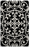 rug #950365 |  white damask rug