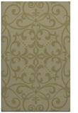 rug #950417 |  light-green damask rug